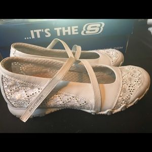 Skechers Shoes - Sketchers white comfy flats